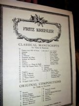 ANTIQUE 1910 SHEET MUSIC PIANO & VIOLIN PARTS FRITZ KREISLER CAPRICE VIENNOIS